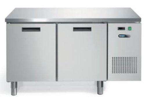 Afinox Koelwerkbank RVS 2 Deurs | 140 x 70 x 81 cm