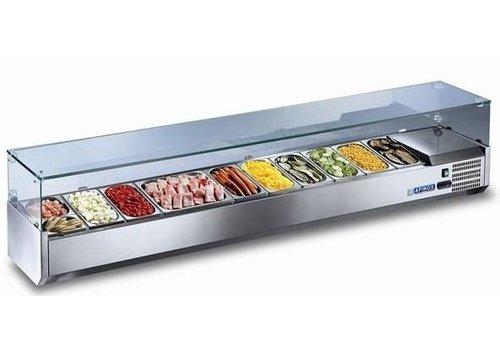 Afinox Oberflächenkühlung mit Glas 205x39,5x42 cm