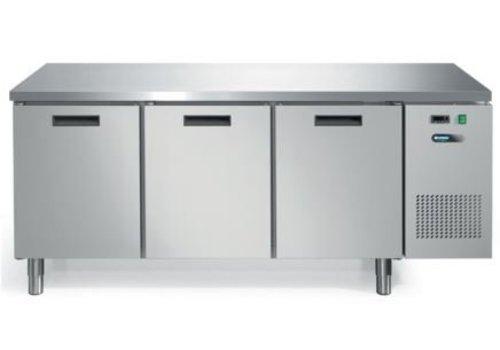 Afinox Kühle Werkbank mit Edelstahl-Arbeitsplatte 3 Türen | 193 x 70 x 85 cm