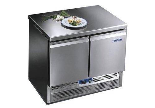 Afinox Saladette & Workbench with 2 doors 100x70x85 cm