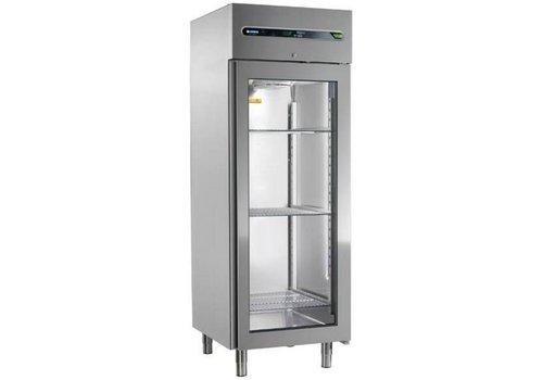 Afinox Commercial refrigerator with glass door 700 liters 73x84x209cm