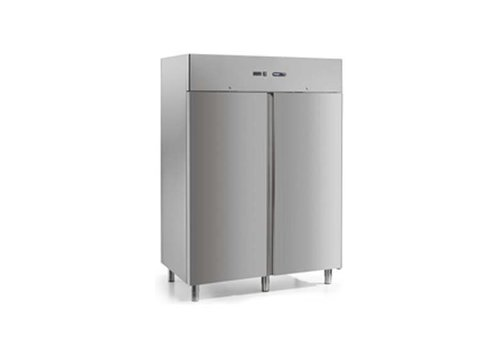 Afinox Industrial refrigerator stainless steel with 2 doors 1400 liters 146,6x80,3x209 cm