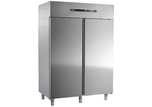 Afinox Koelkast | RVS 2 deurs | 1400 Liter | 147x84x209cm