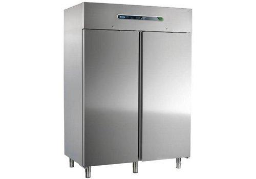 Afinox Stainless steel refrigerator 2-doors | 147x54x209cm