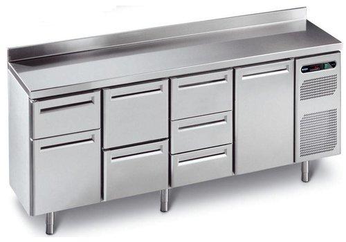 Afinox Koelwerkbank RVS met 4 deuren |  230 x 70 x 90 cm