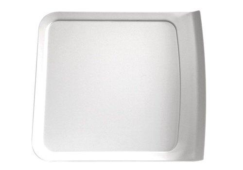 APS Rechteckige Maßstab Melamin Weiß | 4 Größen