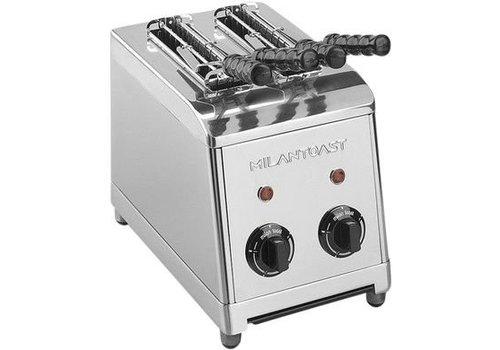 Milan Toast RVS Tosti Apparaat 2 Tangen