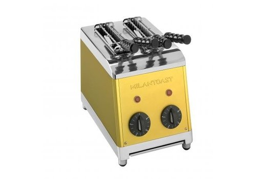 Milan Toast Tosti maker with 2 slices gold