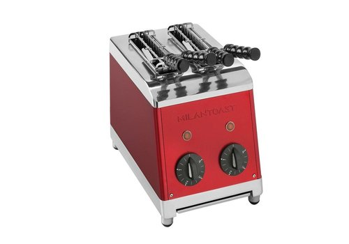 Milan Toast Red Tosti Device 2 cuts