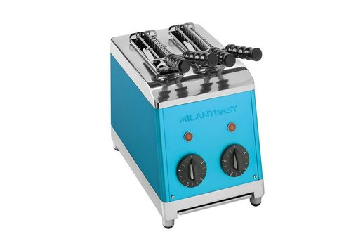 Milan Toast Tosti maker with 2 slices blue