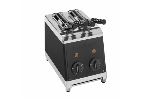 Milan Toast Tosti maker with 2 slices black