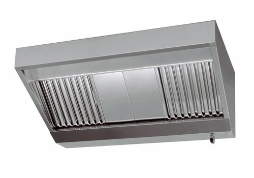 Combisteel Behuizing afzuigkap RVS   200x110x45cm