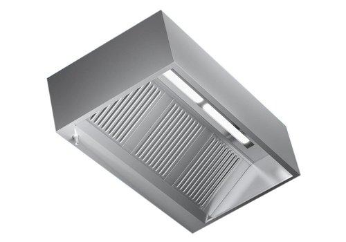 Combisteel Hood mit Edelstahl-Beleuchtung | 160x110x45cm