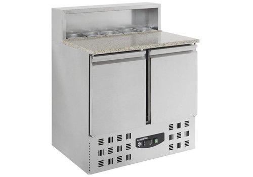 Combisteel Pizzawerkbank -2 DEUREN 90x70x110 cm