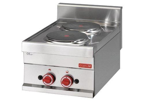 Gastro-M Elektrische kookplaat RVS | 2 kookplaten