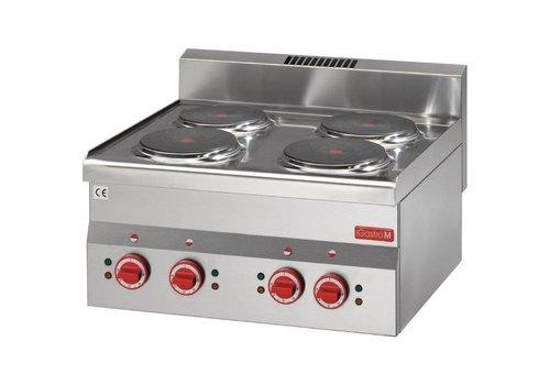 Gastro-M Elektrische kookplaat RVS | 4 kookplaten