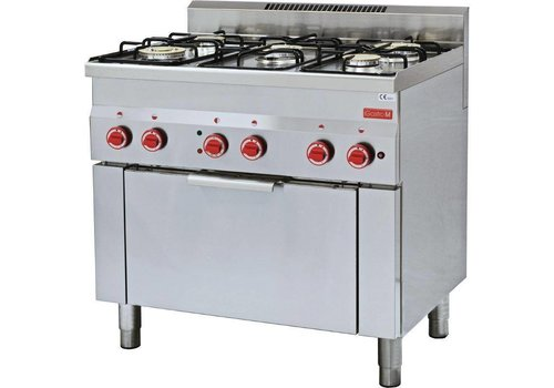 Gastro-M Gas cooker, electric convection oven 5 Burners