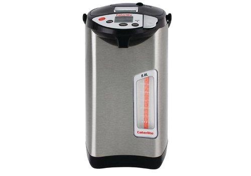 Caterlite Electric pump jug 5 liters stainless steel