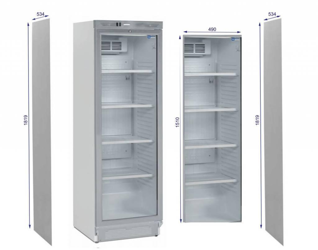 Diamond Alkoholfreie Getränke Kühlschrank mit Glastür 60x60x185 cm ...