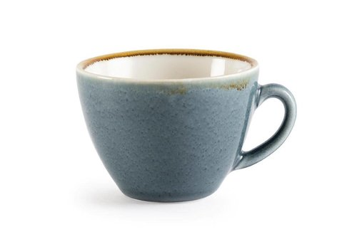 Olympia Blauwe porselein cappuccinokopjes 23cl (6 stuks)