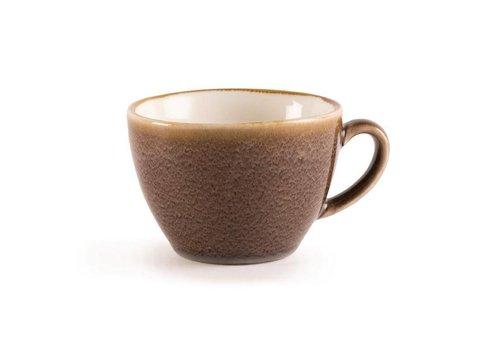 Olympia Bruine porselein cappuccinokopjes 34cl (6 stuks)