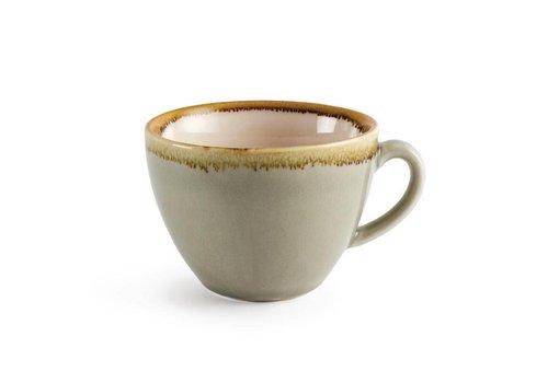 Olympia Moosgrün Porzellan Cappuccino-Tassen 23cl (6 Stück)