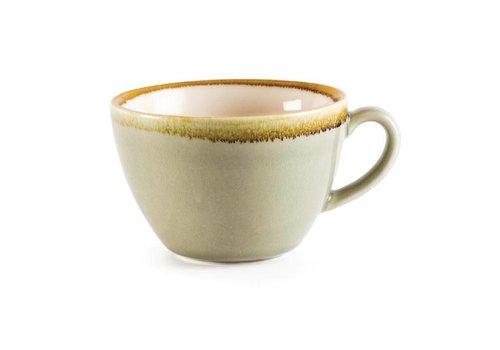 Olympia Mosgroene porselein cappuccinokopjes 34cl (6 stuks)