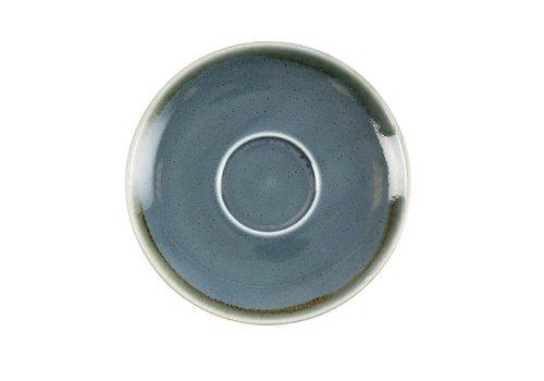 Olympia Blauwe porselein cappuccinoschotels 16cm (6 stuks)
