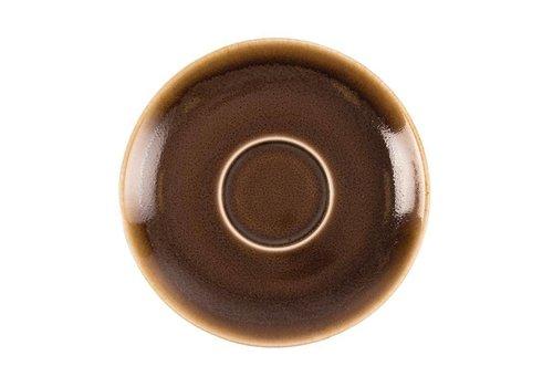 Olympia Brown Porzellan Cappuccino Geschirr 14cm (6 Stück)