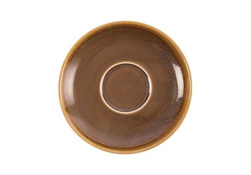 Olympia Brown Porzellan Cappuccino Geschirr 16cm (6 Stück)