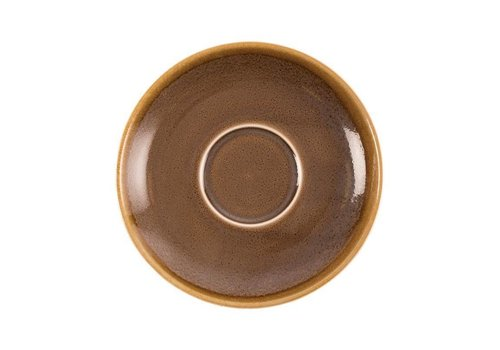 Olympia Bruine porselein cappuccinoschotels 16cm (6 stuks)