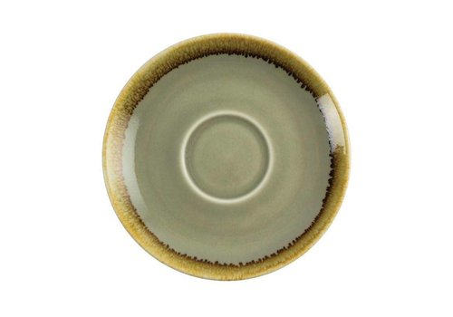 Olympia Mosgroene porselein cappuccinoschotels 14cm (6 stuks)