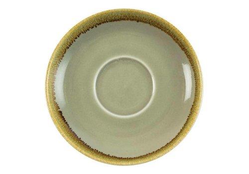 Olympia Moosgrün Porzellan Cappuccino Geschirr 16cm (6 Stück)