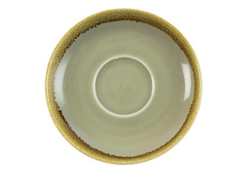 Olympia Moss green porcelain cappuccino dishes 16cm (6 pieces)