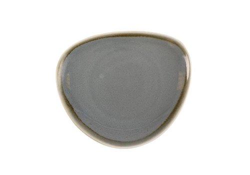 Olympia Blaues Porzellan dreieckige Platten von 16,5 cm (6 Stück)