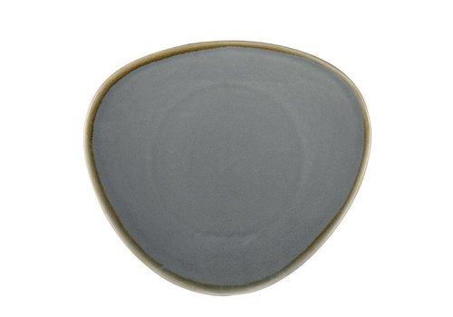 Olympia Blauwe porselein driehoekige borden 28cm (4 stuks)