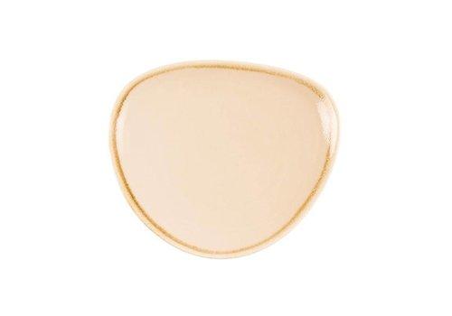 Olympia Sandstone porcelain triangular plates 16,5cm (6 pieces)