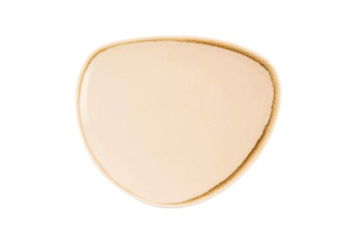 Olympia Sandstone porcelain triangular plates 23cm (6 pieces)