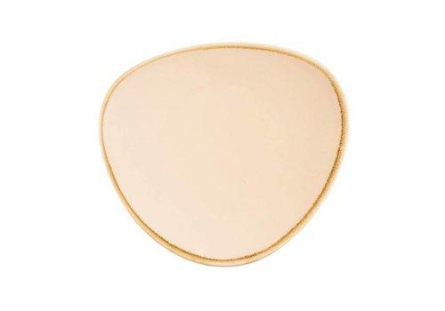 Olympia Zandsteen porselein driehoekige borden 28cm (4 stuks)