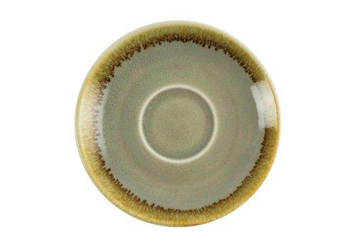 Olympia Mosgroene porselein espressoschotels 11,5cm (6 stuks)