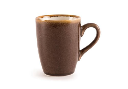 Olympia Brown porcelain mugs 34cl (6 pieces)