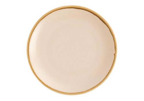 Olympia Sandstone porcelain round coupe boards 28cm (4 pieces)