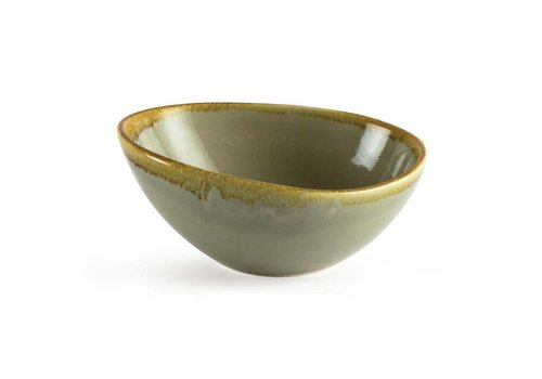 Olympia Moss green porcelain dishes 16,5cm (6 pieces)