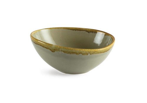 Olympia Moss green porcelain dishes 21.5cm (4 pieces)