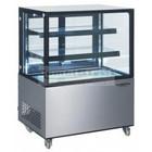 HorecaTraders Glass Counter display case | 92 x 68 x 127 cm