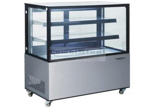 HorecaTraders Glass Counter display case | 122 x 68 x 127 cm