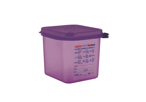 Araven Allergens food container 4 Formats