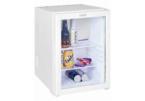 HorecaTraders Minibar Wit Kleine Koelkast en glazen deur