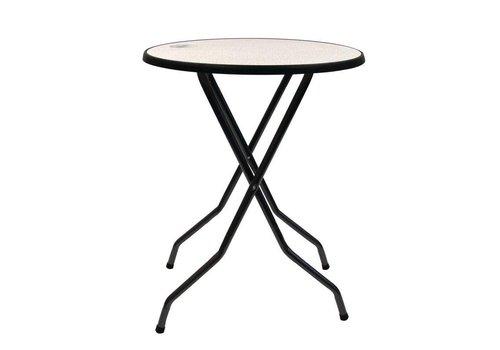 HorecaTraders Folding Stand Firm Table | Ø85cm