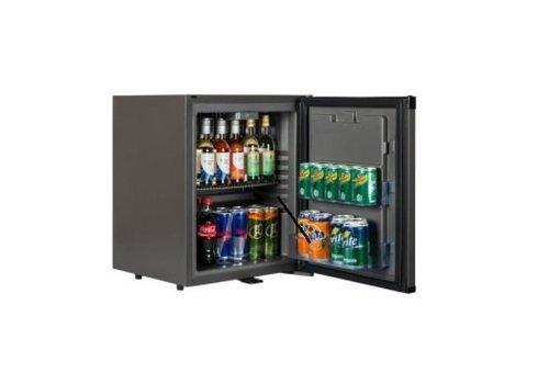 HorecaTraders Kleine schwarze Kühlschrank - SILENT Kühlschrank 31 Liter